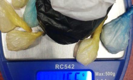 Menor en posesión de enervantes fue detenido con droga crystal en el municipio de Pabellón de Arteaga