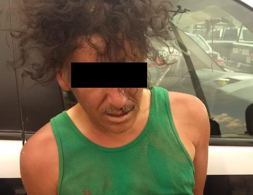 En el municipio de Cosío, fue detenido sujeto acusado agredir a su familia, quien posteriormente intentó quitarse la vida