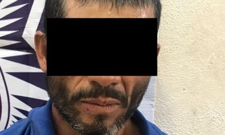 Amenazó a los oficiales y por resistencia de particulares, fue detenido en el municipio de Tepezalá