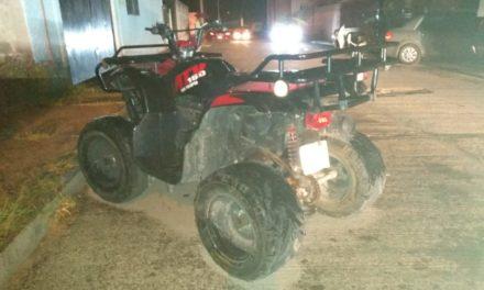 Cuatrimoto que contaba con reporte de robo fue recuperada en el municipio de Cosío