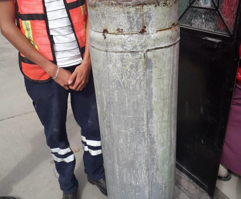 Se atiende reporte de fuga de gas en el municipio de Rincón de Romos
