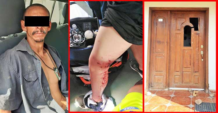 ¡Agreden con un machete a Omar Williams ex ombudsman en Aguascalientes!