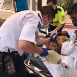 ¡Grave distribuidor de Gas Noel por un descuido, su cliente y un bombero salen heridos!
