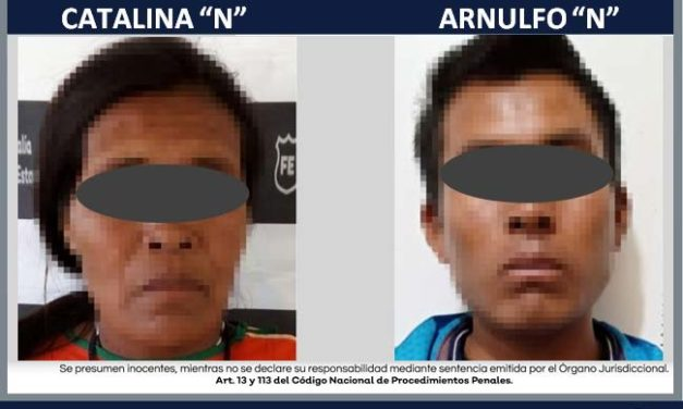 ¡Fiscalía Regional captura a pareja señalada en un abuso sexual infantil en Mezquitic!