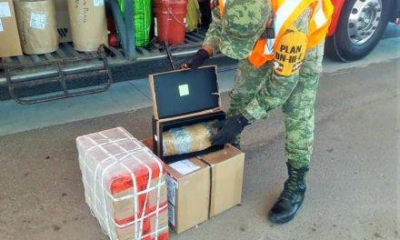 ¡Ejército Mexicano aseguró dos cargamentos de droga en Aguascalientes!