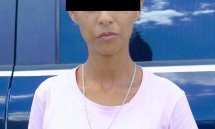PRESUNTA DISTRIBUIDORA DE DROGA FUE DETENIDA EN EL MUNICIPIO DE PABELLÓN DE ARTEAGA