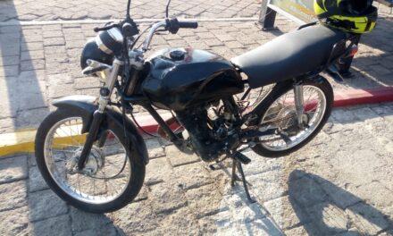 MOTOCICLETA QUE PRESENTABA ALTERACIONES FUE ASEGURADA POR LA POLICÍA ESTATAL