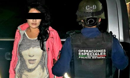 CAPTURAN ELEMENTOS DE LA SSPE A MUJER EN POSESIÓN DE DROGA CRISTAL