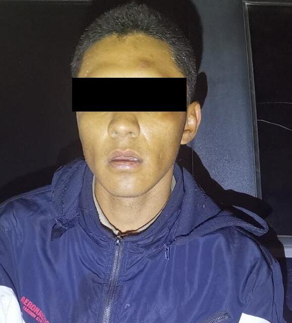 POR ROBO CON VIOLENCIA FUE DETENIDO EN PABELLÓN DE ARTEAGA