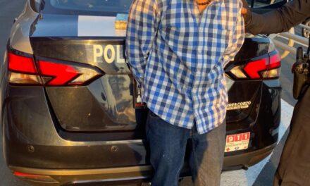TRAS HABER SIDO SEÑALADO POR ROBO, FUE DETENIDO POR LA POLICÍA ESTATAL