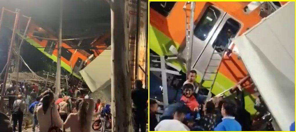 13 muertos y 70 heridos es el saldo del colapso del tramo elevado de la Línea 12 del Metro en la CDMX