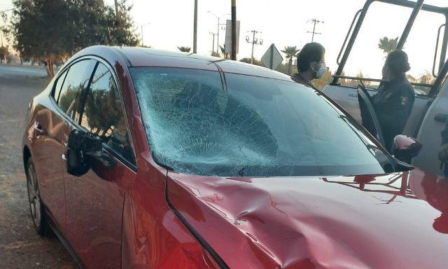 ¡Automóvil embistió y mató a mujer ciclista en Guadalupe!