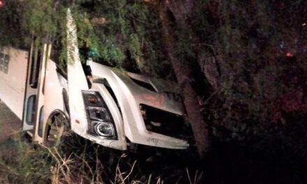 ¡42 lesionados tras brutal choque entre un auto y un camión de transporte de personal en Lagos de Moreno!