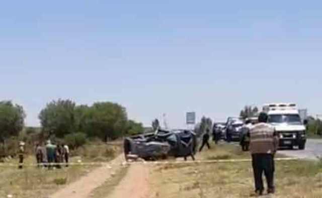 ¡Volcadura de camioneta en Fresnillo dejó saldo de 1 muerto y 3 lesionados!