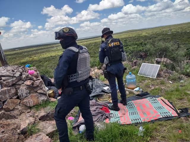 ¡En Pánuco SSP desmanteló un narco-campamento!
