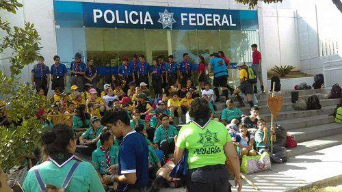 ¡Policía Federal realiza un campamento con el Grupo Scout en sus instalaciones en Aguascalientes!