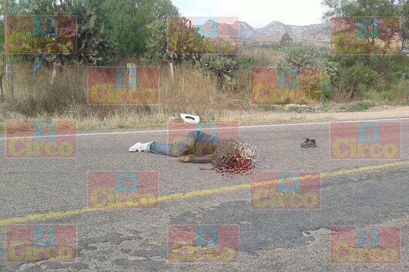 ¡Adulto mayor murió atropellado por veloz camioneta sobre la carretera Ojuelos-Aguascalientes!