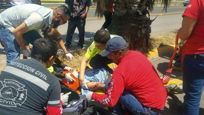 ¡Grave ciclista arrollado en Pabellón de Arteaga, Aguascalientes!