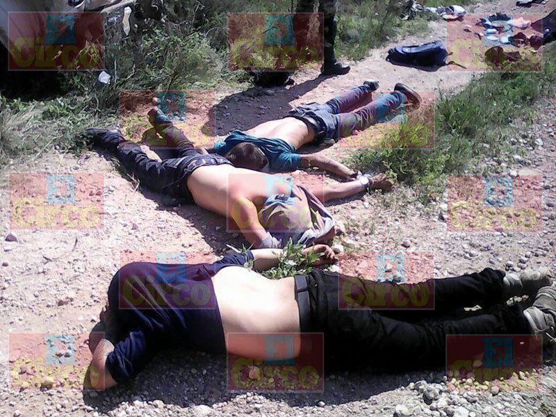¡Enfrentamiento y persecución en Fresnillo, capturan a 3 y aseguran armamento!