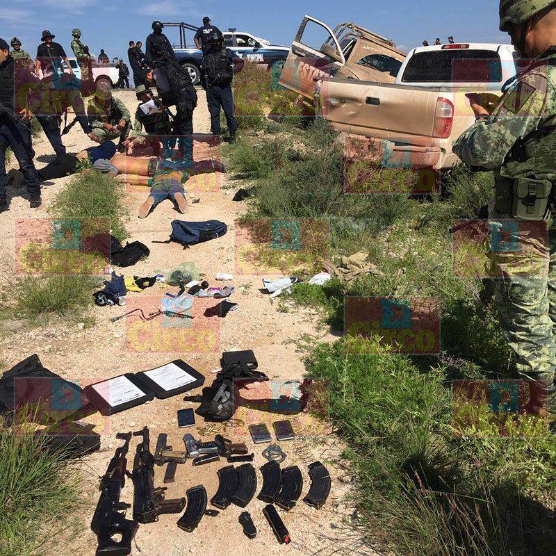 GALERIA/¡Enfrentamiento y persecución en Fresnillo, capturan a 3 y aseguran armamento!