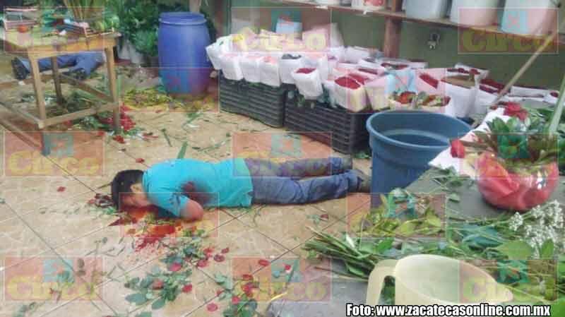 GALERÍA/¡Ejecutan a dos empleados de una florería en Calera, Zacatecas!