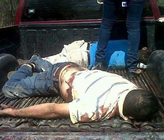 ¡Ejecutan y encajuelan a dos hombres en el ejido La Quemada en Villanueva!