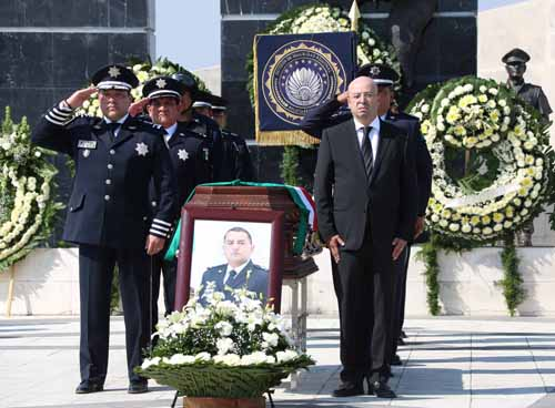 ¡La CNS despide con honores a los 3 Policías Federales caídos en Nuevo León!