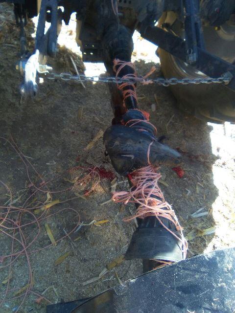 ¡Jornalero se amputó una pierna al estar trabajando en una parcela en Aguascalientes!