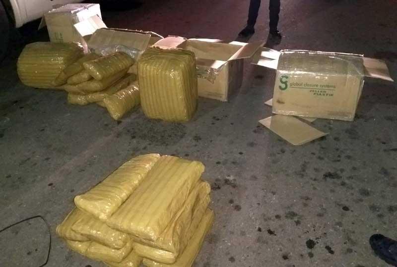 ¡El Ejército y la Policía Estatal aseguran 120 kilos de mota en la puerta sur en Aguascalientes!