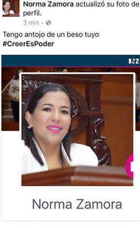 ¡Diputada panista de Aguascalientes pide besos en Facebook!