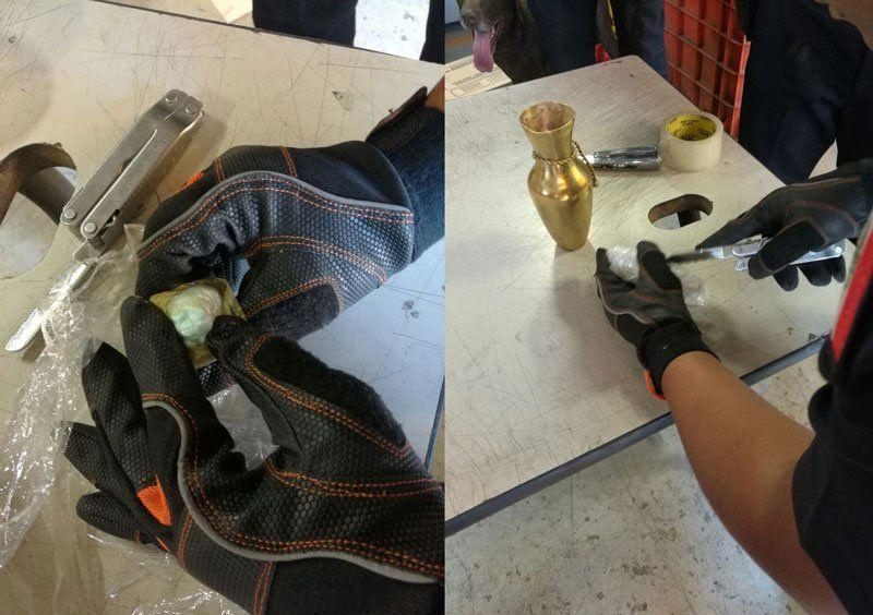 ¡Policía Federal detecta y asegura droga oculta en un jarrón artesanal en Jalisco!
