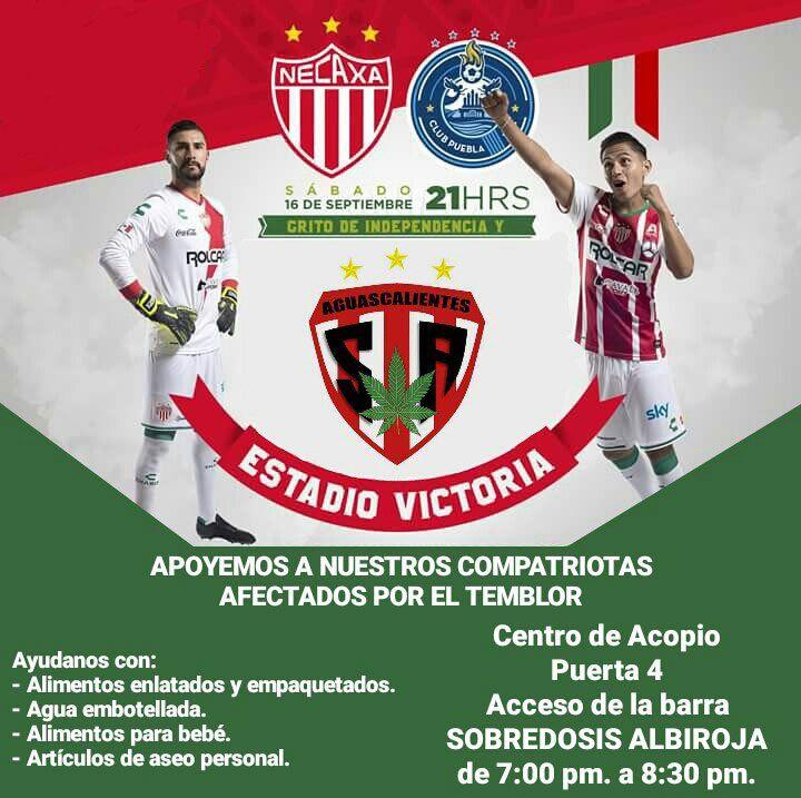 ¡La porra Sobredosis Albiroja pide apoyo para afectados del sismo en Oaxaca!