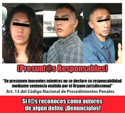 ¡Detienen a dos hombresarmados y a una mujer en Aguascalientes!